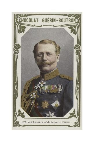 size: 24x16in Giclee Print: Von Einem, Ministre De La Guerre, Prusse :