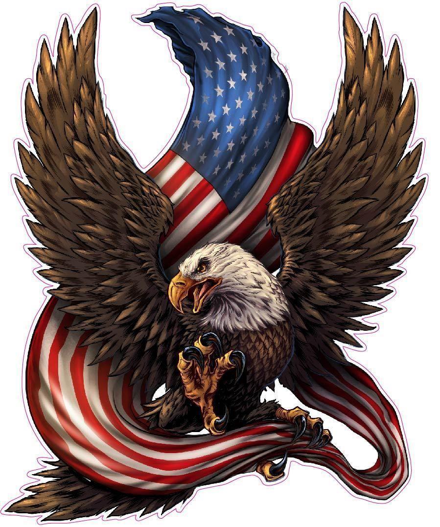 American Patriotic Bald Eagle Sticker   American bald ...