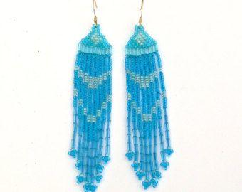 Nativi americani in orecchini ispirati. Orecchini nero e