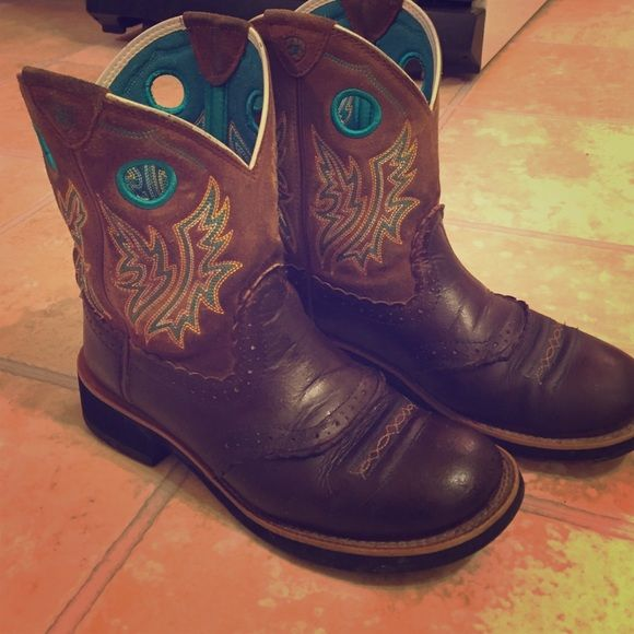 Ariat Fat baby boots size 8 B   Shoes, Babies and Baby boots