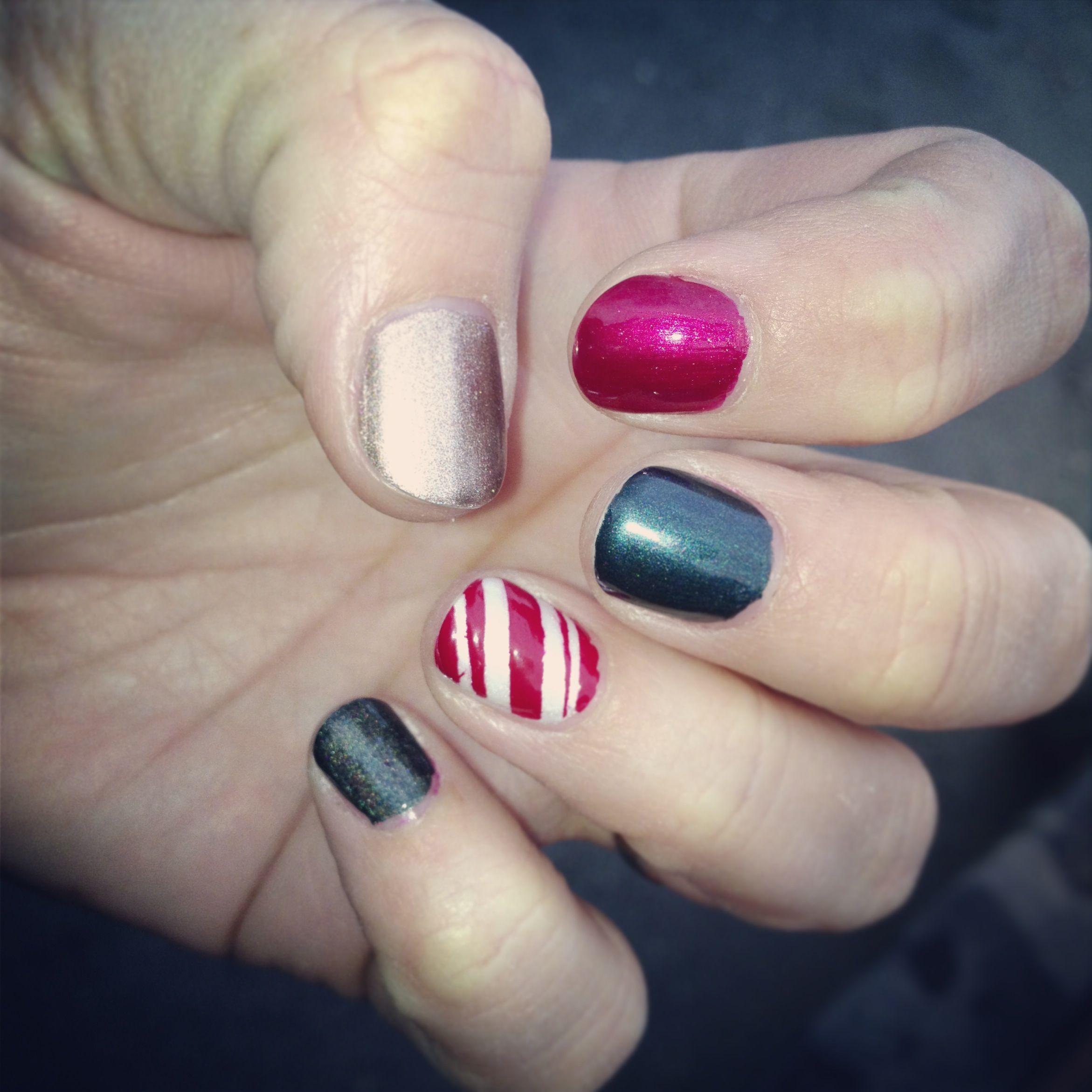 Xmas nails!!