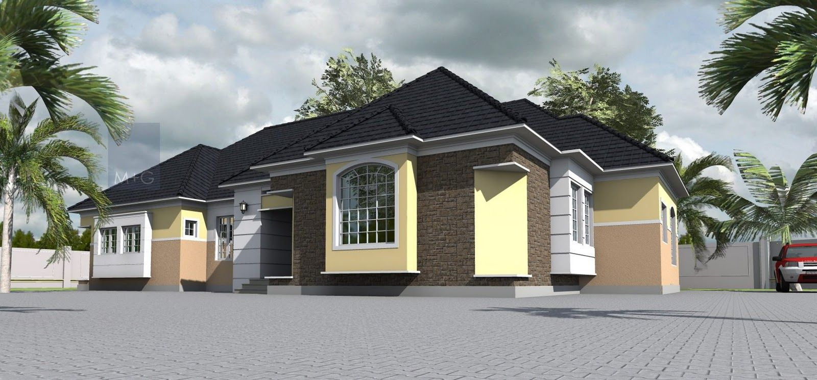Small two story house plans with contemporary nigerian residential architecture 4 bedroom bungalow