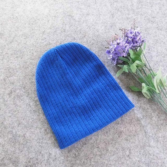 83b651293ac Dreamshining Baby Hat Kids Newborn Knitted Cap Crochet Solid Children  Beanies Boys Girls Hats