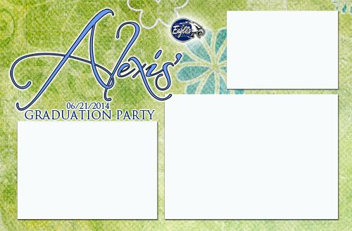 graduation, party, 4x6, photobooth, template, design ...