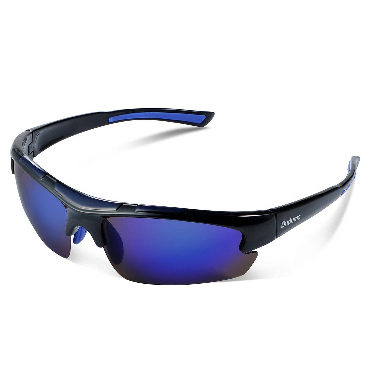 e978bbd70d Duduma Polarized Sports Sunglasses for Men Women Baseball Running Cycling  Fishing Driving Golf Unbreakable Frame (black blue)