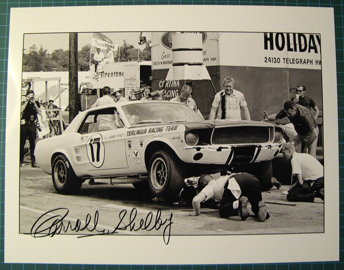 Jerry Titus Terlingua Mustang Vintage Picture with Carroll