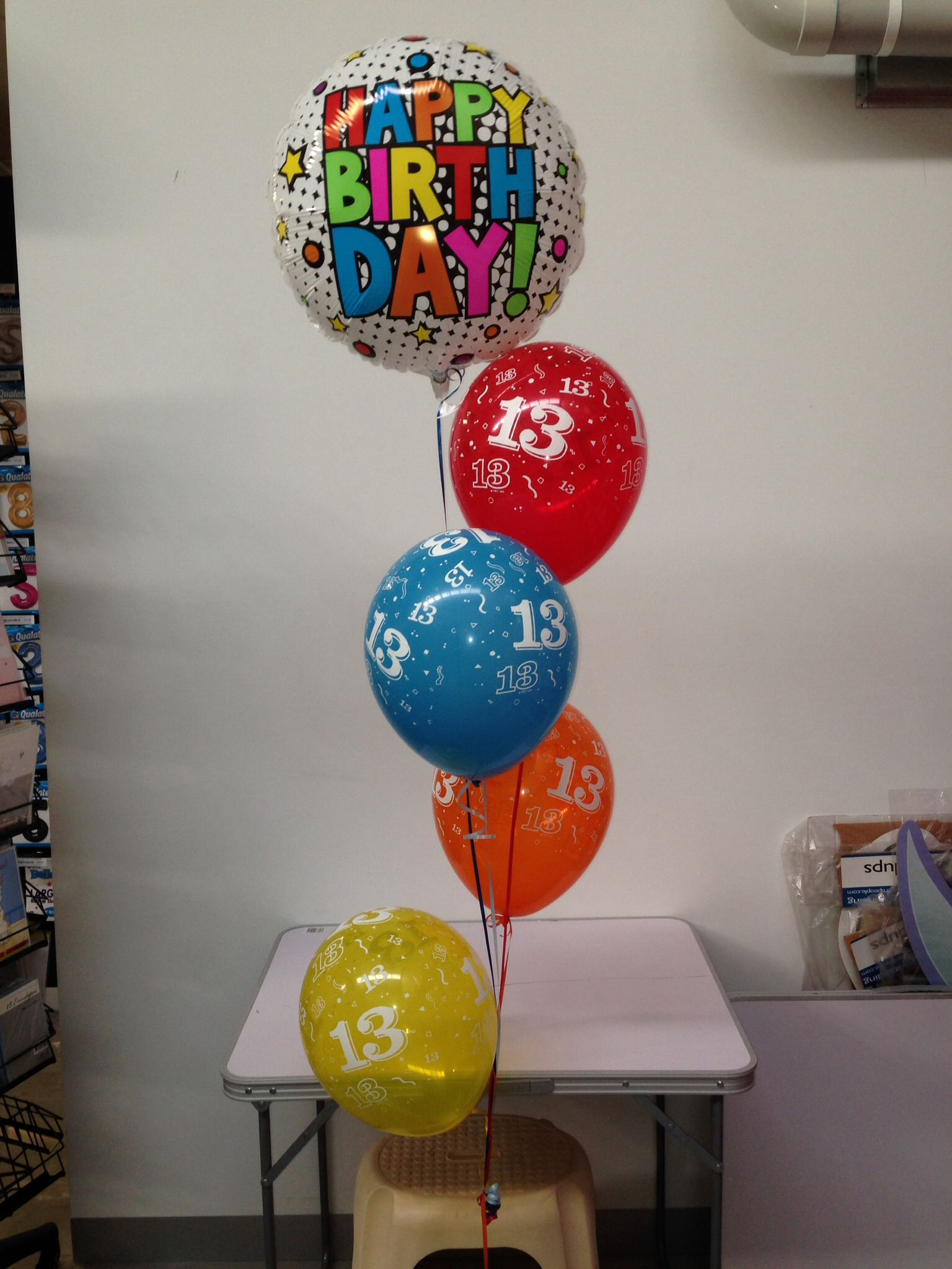 13th Birthday Balloon Decoration Made By Lets Celebrate Parties