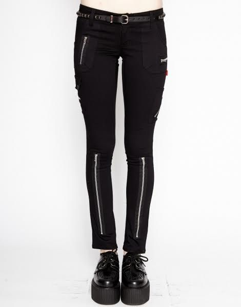 Exploited Pant- Girls Skinny Zipper Stretch Bondage Jean -7280