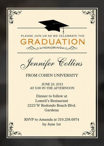 Honors Cap Graduation Invitations