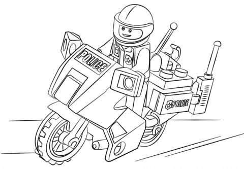 Lego Motorad Polizei Ausmalbild 822 Malvorlage Lego Ausmalbilder ...
