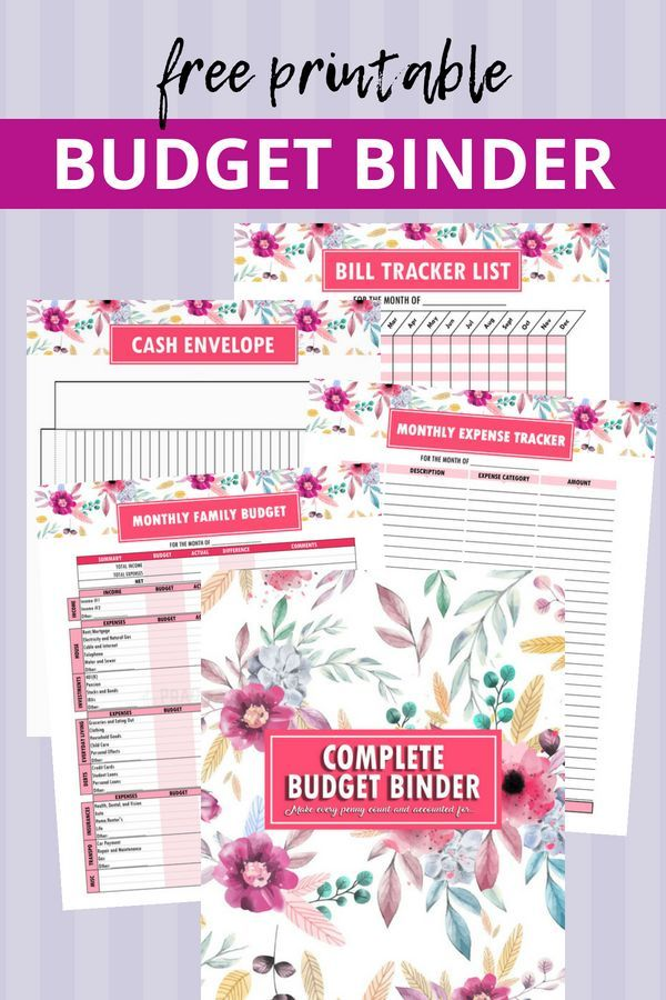 Printable Budget Binder Finance Pinterest Printable budget