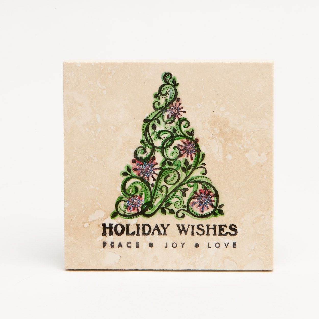Stampin Up Christmas Coasters