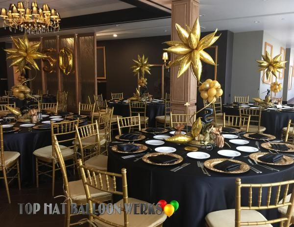 Elegant balloon centerpieces 50th birthday prom 2017 for Room decor ideas for husband birthday