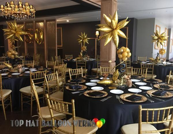 Elegant Balloon Centerpieces 50th Birthday Balloons 90th Ceiling