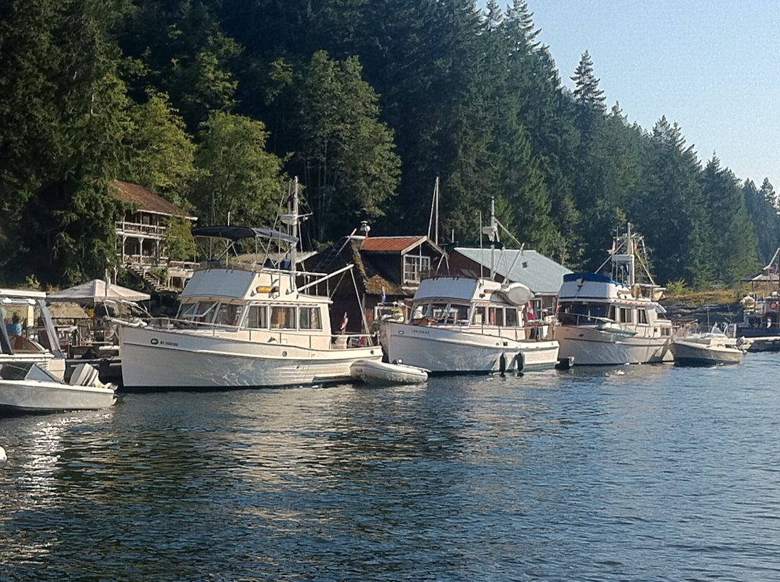 West Coast Cruising We Tied Up With Fellow Grand Banks S At - West coast cruises