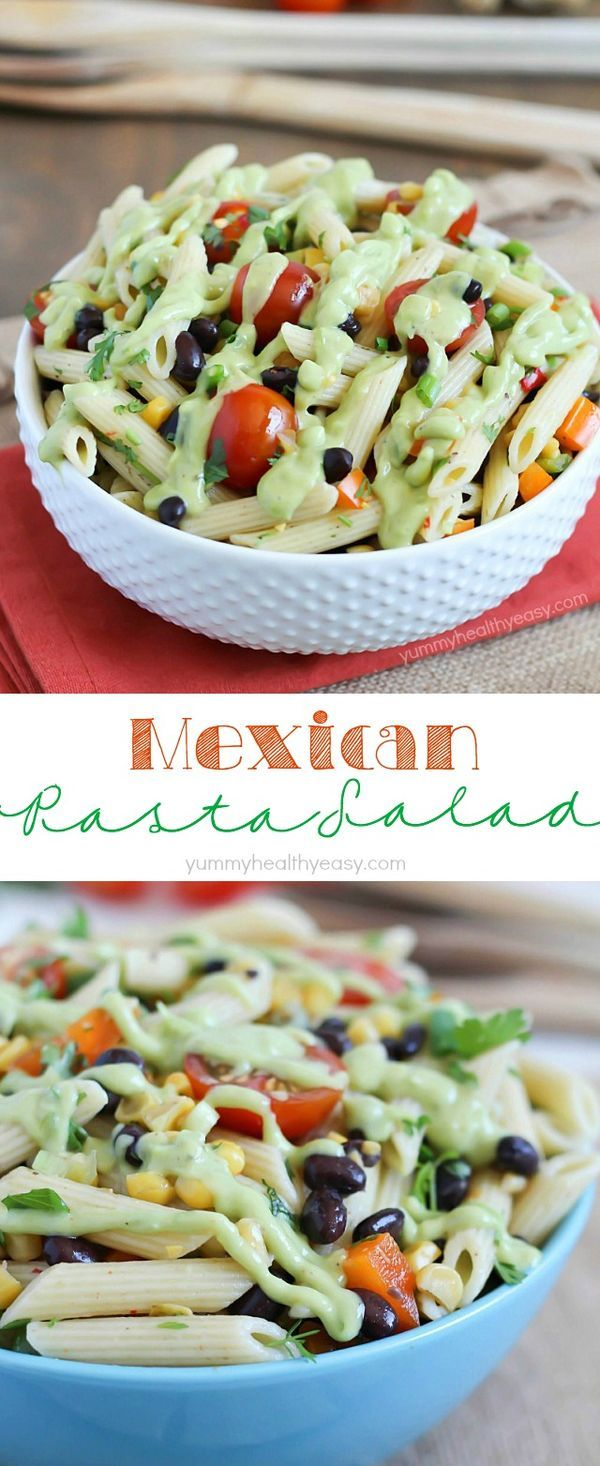 A simply delicious side dish, Mexican Pasta Salad with
