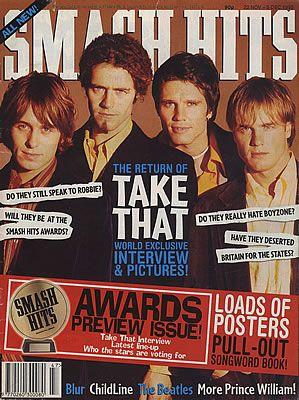 Take That Smash Hits - December 1994 & November 1995 UK
