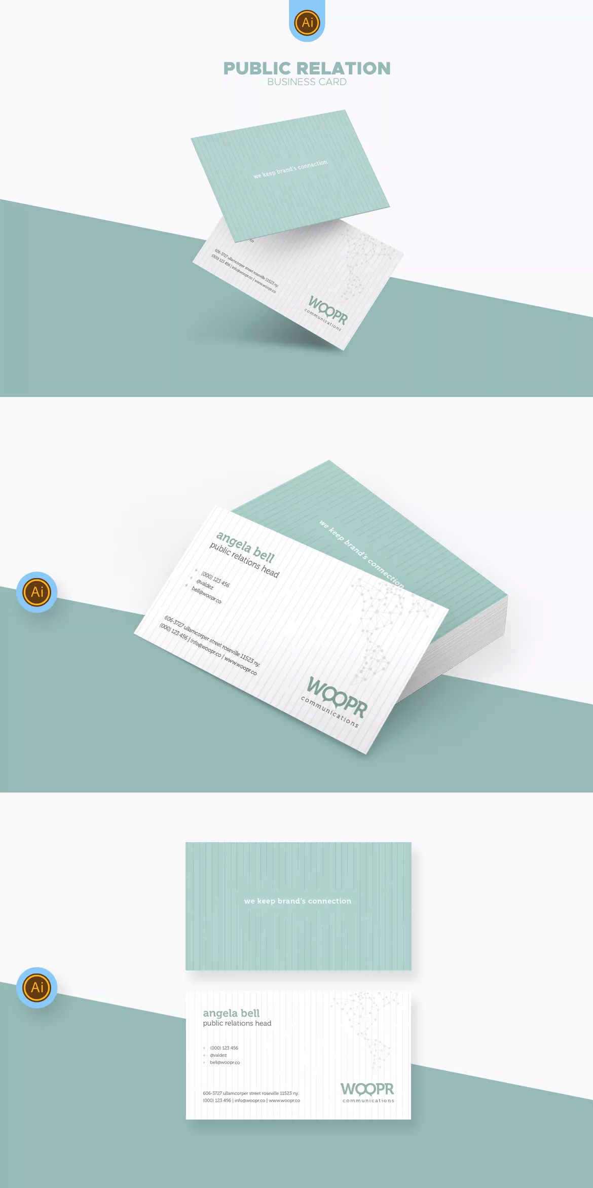 PR Marketing Business Card Template AI, EPS #unlimiteddownloads ...