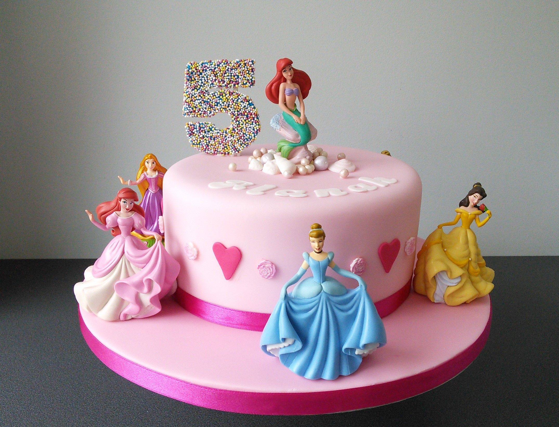 Super Disney Princess Birthday Cake With Images Disney Princess Personalised Birthday Cards Petedlily Jamesorg