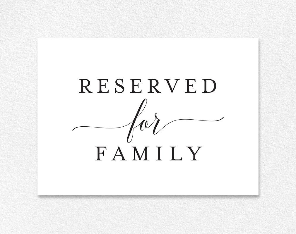 30++ Reserved seat sign wedding information