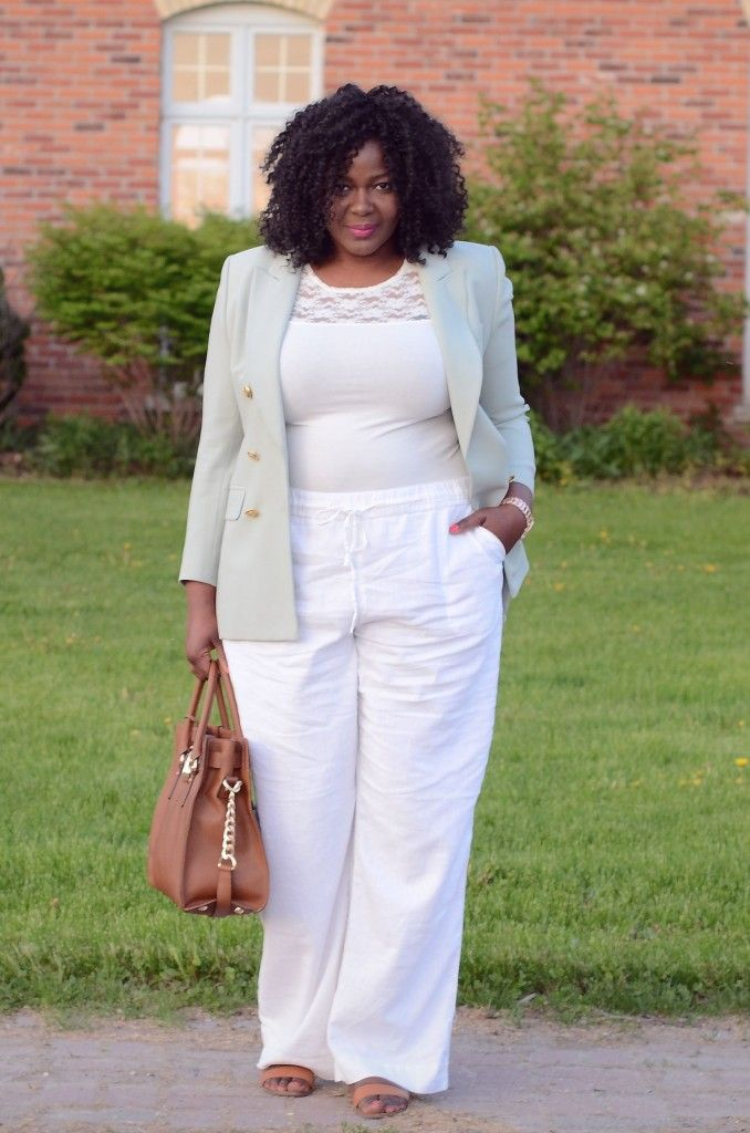 How To Rock A Linen Pants Plussize Fashion For My Women Curves