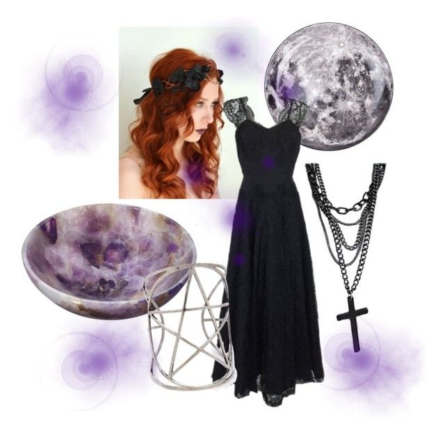 """""""wiccan beauty"""" by topgirl165 ❤ liked on Polyvore featuring Mode, RabLabs, Seletti und Pamela Love"""