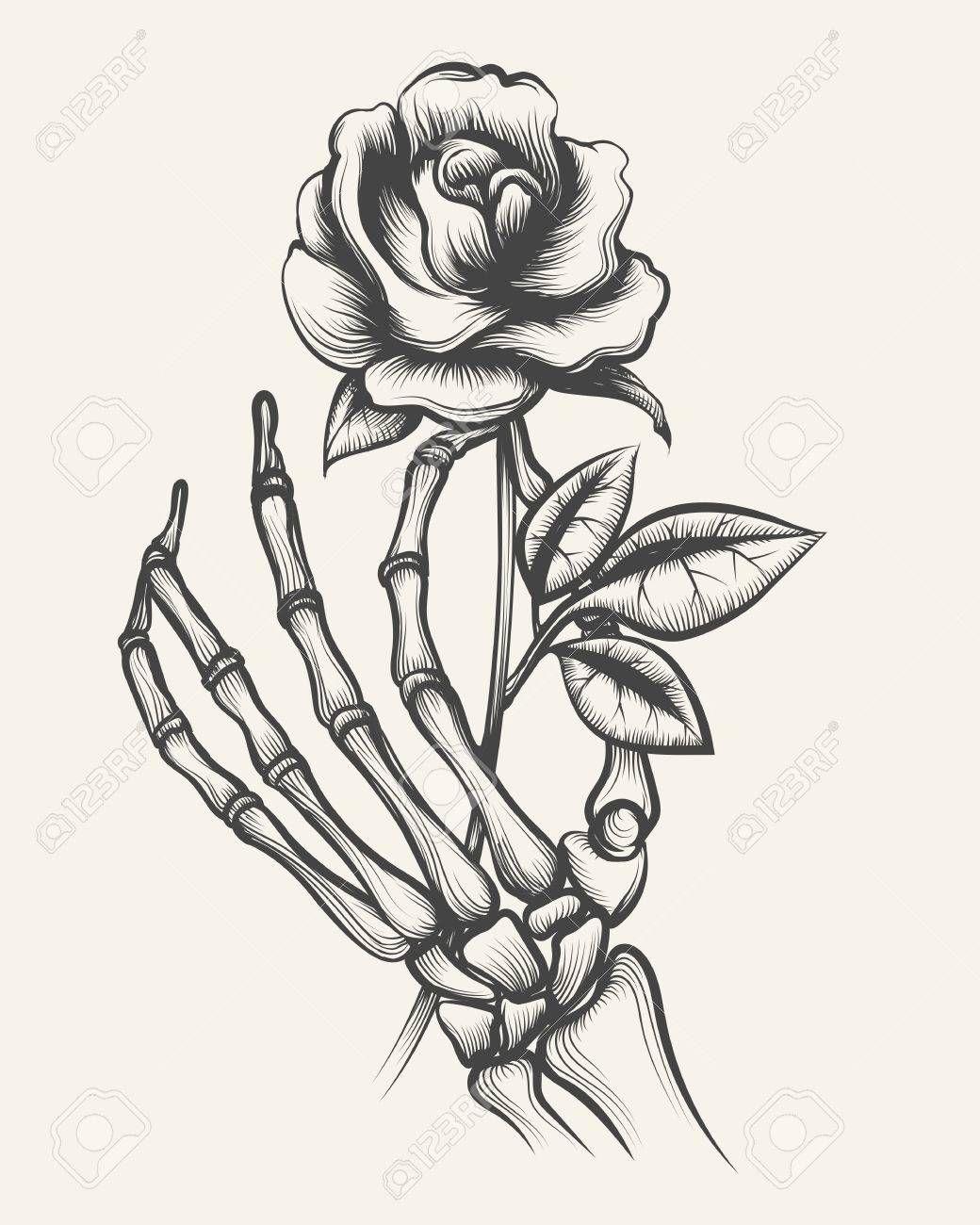 Image Result For Skeleton Hand Holding Flower