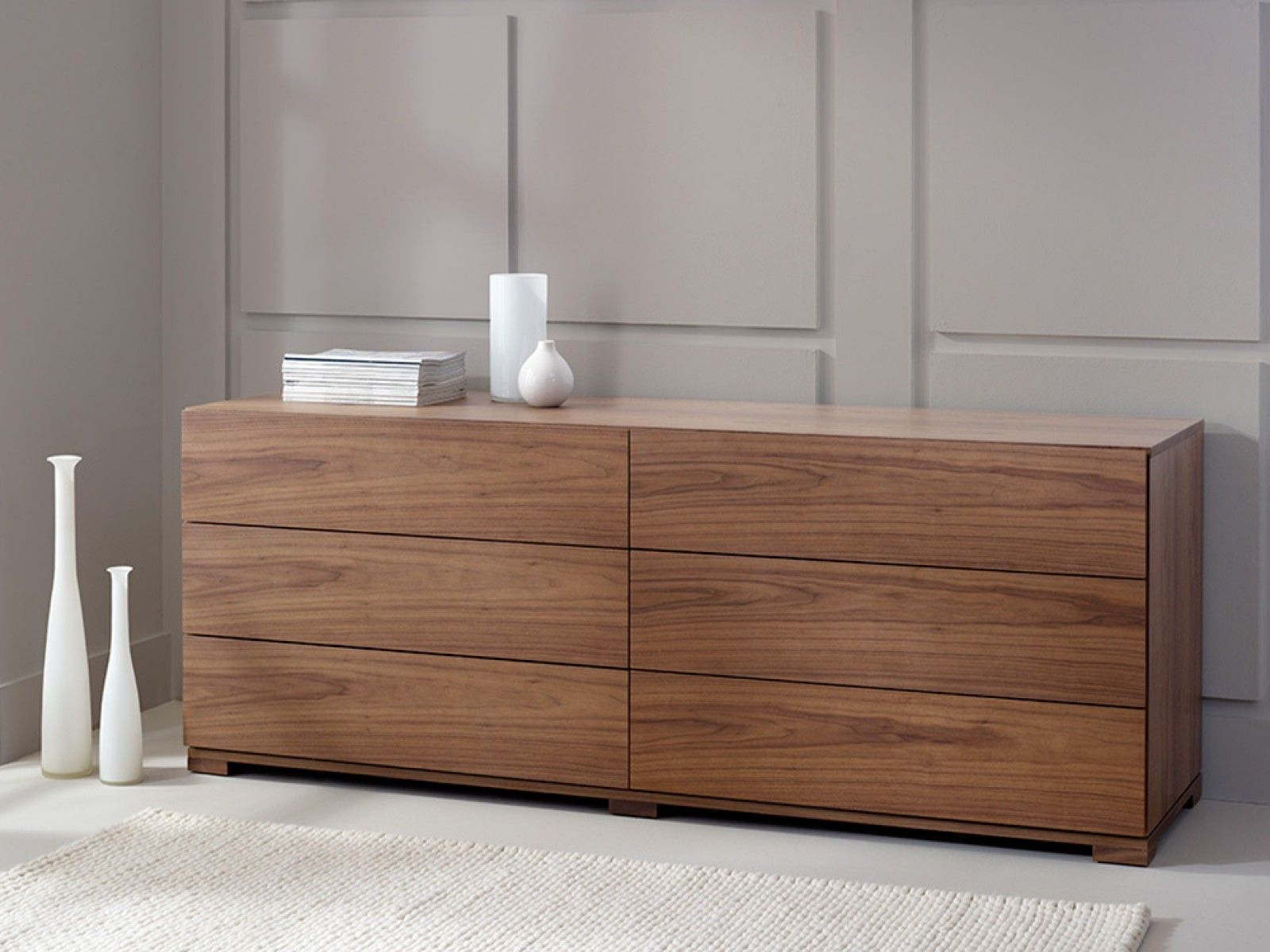 6 Drawer Chest Walnut  Product Furniture in 2019