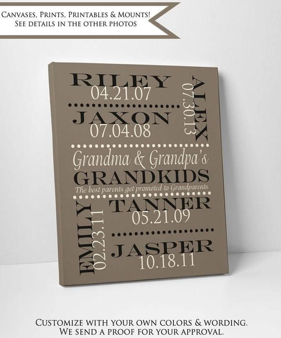 Personalized Grandmother and Grandfather Gift, Wall Art Print Anniversary Gift for Grandparents with #bestgiftsforgrandparents