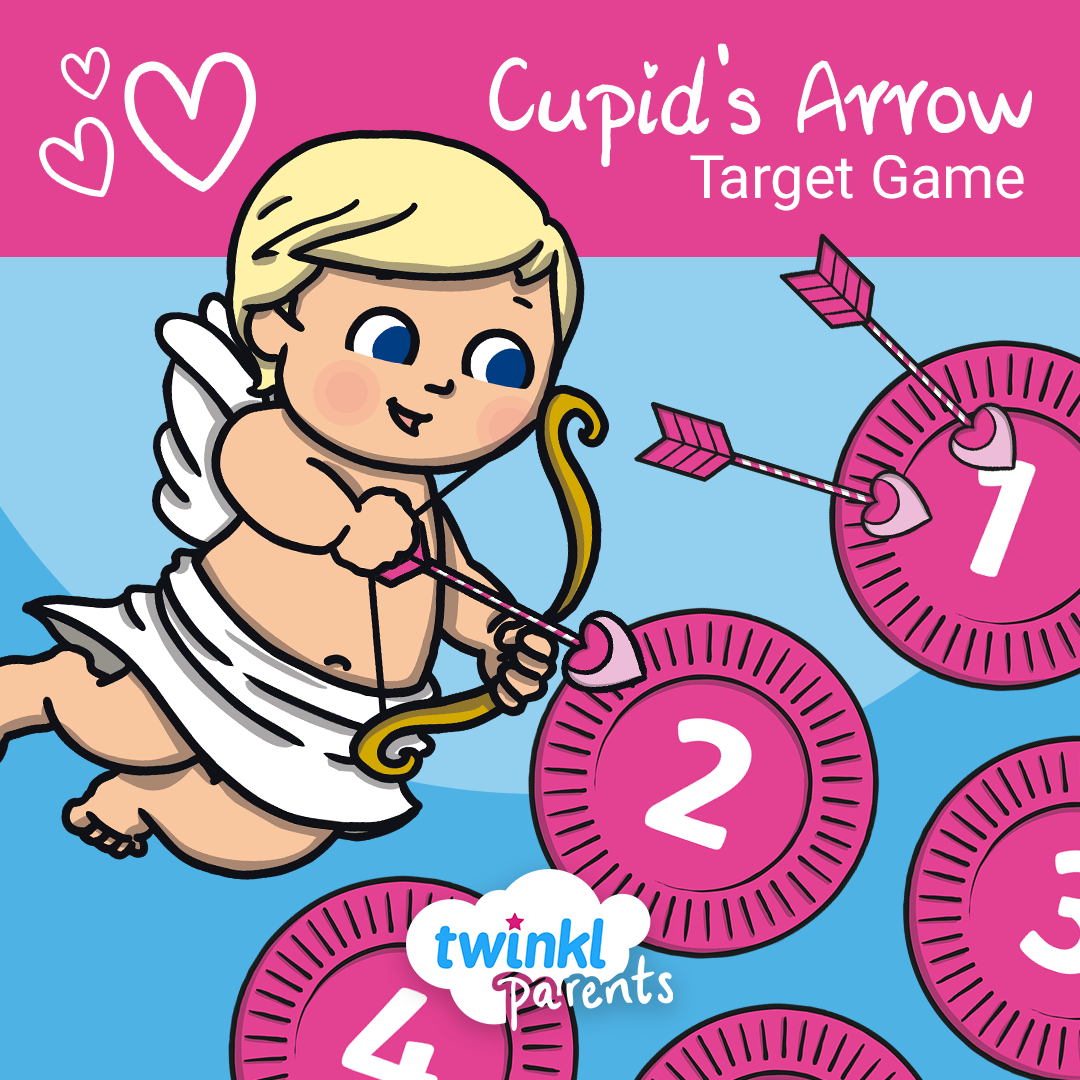 This Cupid's Arrow party game is easy to set up and play