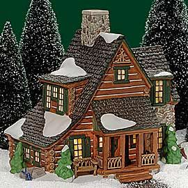 Department 56 Mountain View Cabin Christmas Village Display Christmas Village Houses Lemax Christmas Village