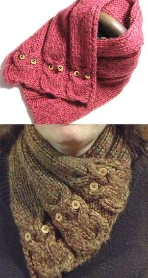 Knitting Pattern for Hidden Picture Neckwarmer - Buttoned cowl with ...