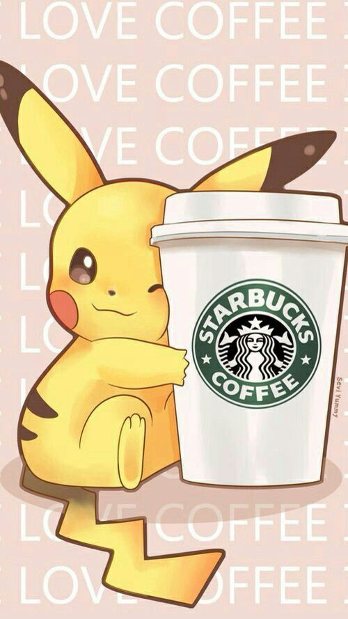 Pikatchu Love Starbucks Coffee Pikachu Wallpaper Cute Pokemon Wallpaper Pokemon