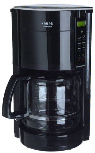 Krups 4534c 12cup Coffeemaker With Gold Tone Filter Black