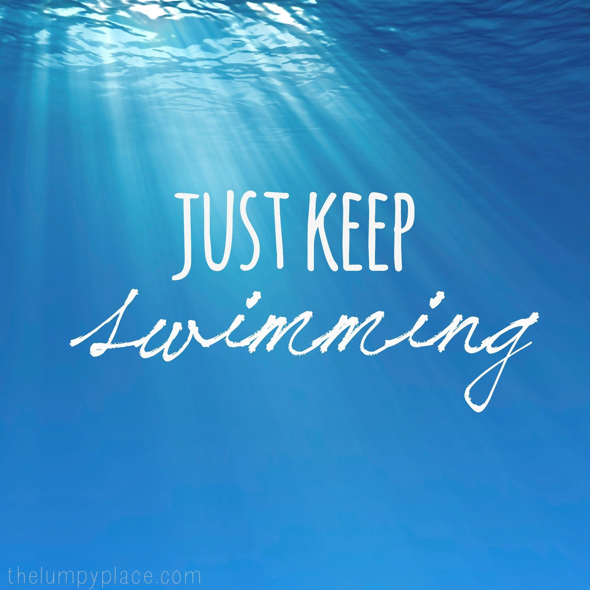 Just Keep Swimming Wallpaper