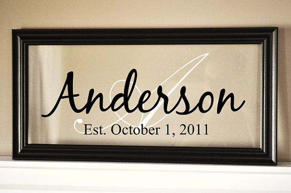 Personalized Family Name Sign Picture Frame 11x21 | Wedding Stuff ...