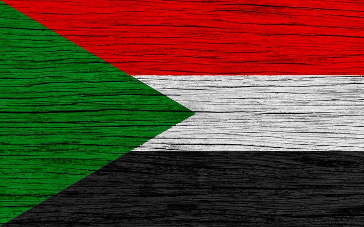 download wallpapers flag of sudan 4k africa wooden texture