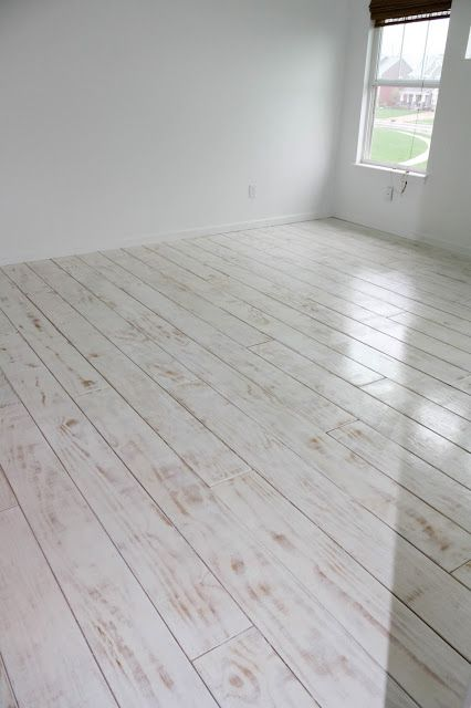 Diy Planked Floors Plywood Used Whitewashed With Primer
