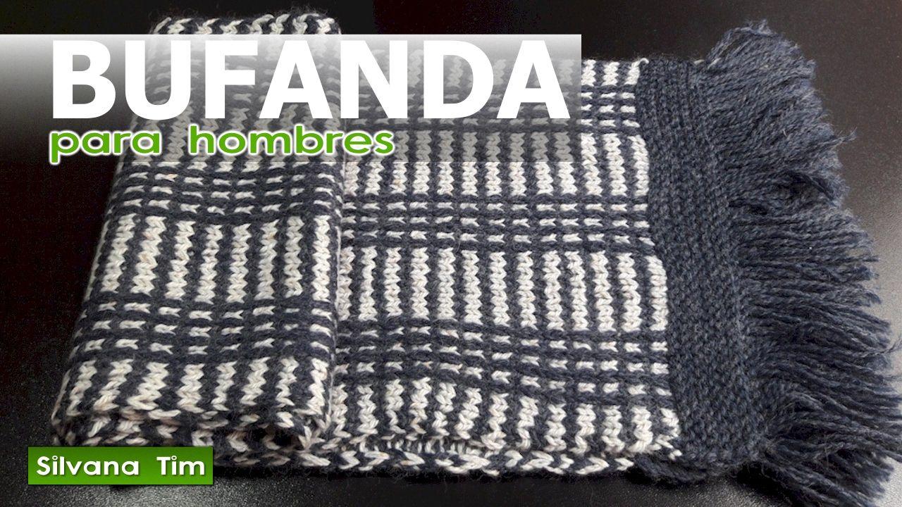 última tecnología diseño popular presentación Cómo tejer BUFANDA con punto jacquard de dos colores para ...