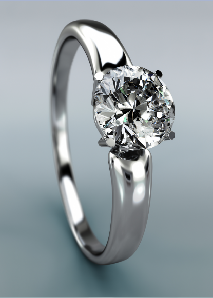How to Clean a Diamond Ring Close Up of a White Gold Ring with