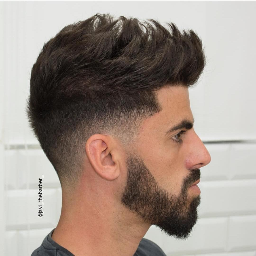 low fade with spike texture on top | hair styles | medium