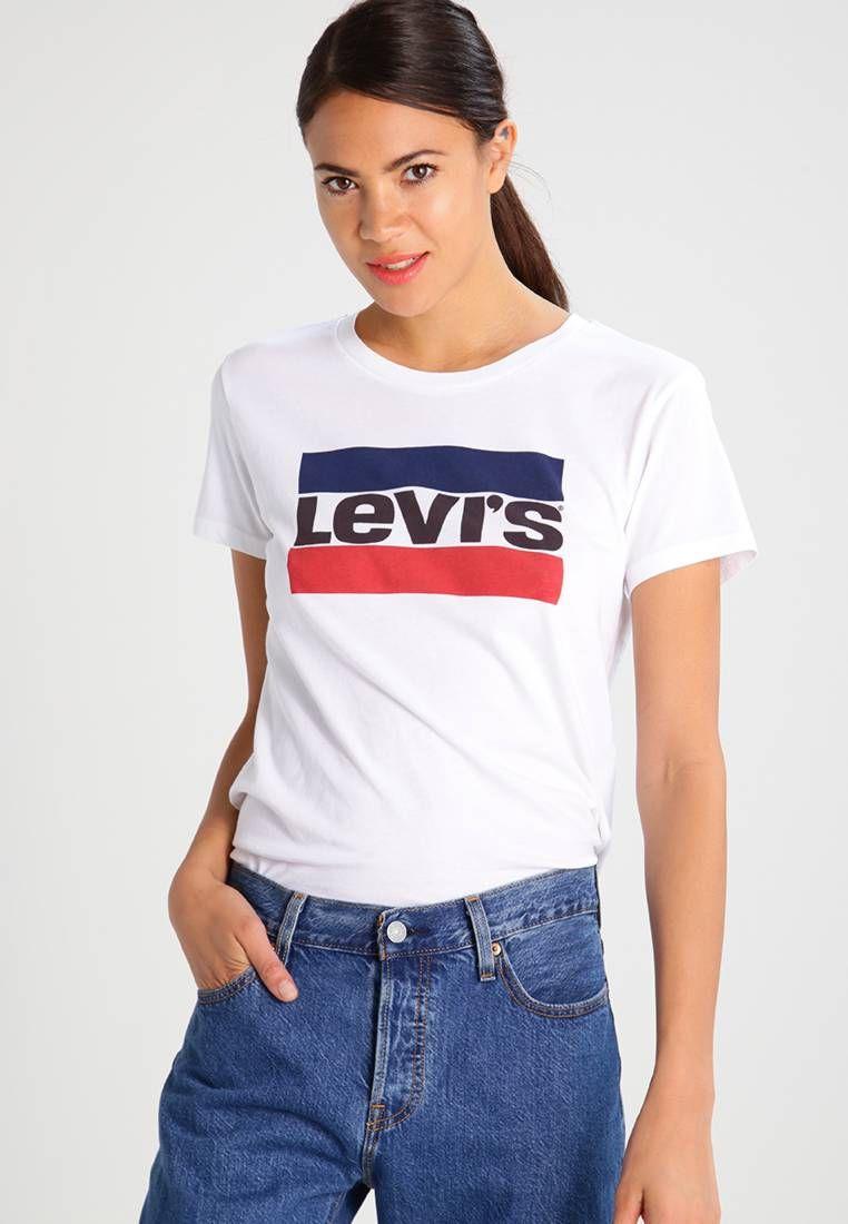 4f2c44492 Levi's®. THE PERFECT - Camiseta print - white. Transparencia:poco  transparente.