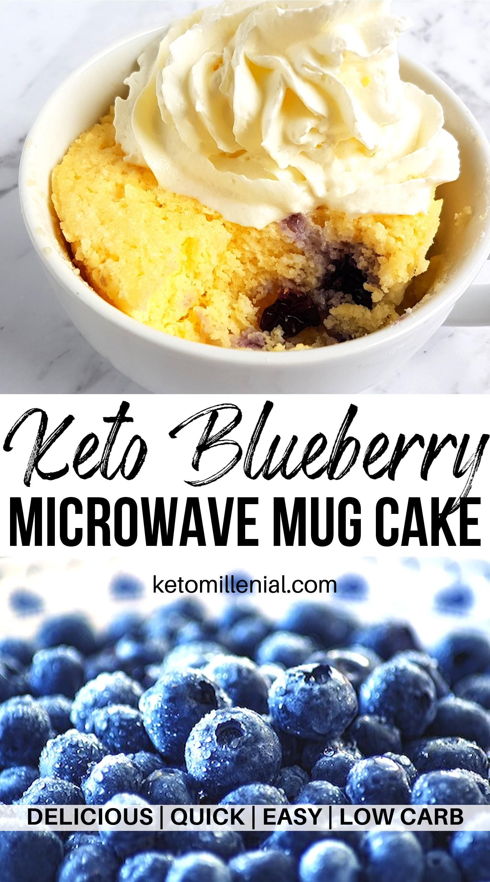 Low Carb Keto Blueberry Mug Cake | Recipe in 2020 (With ...