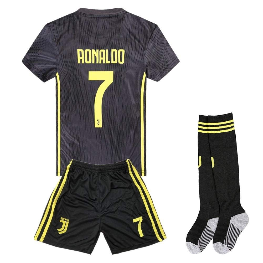 best website fff3e 66668 2018-2019 Season Ronaldo 7 Juventus Away Kids & Youth Soccer ...