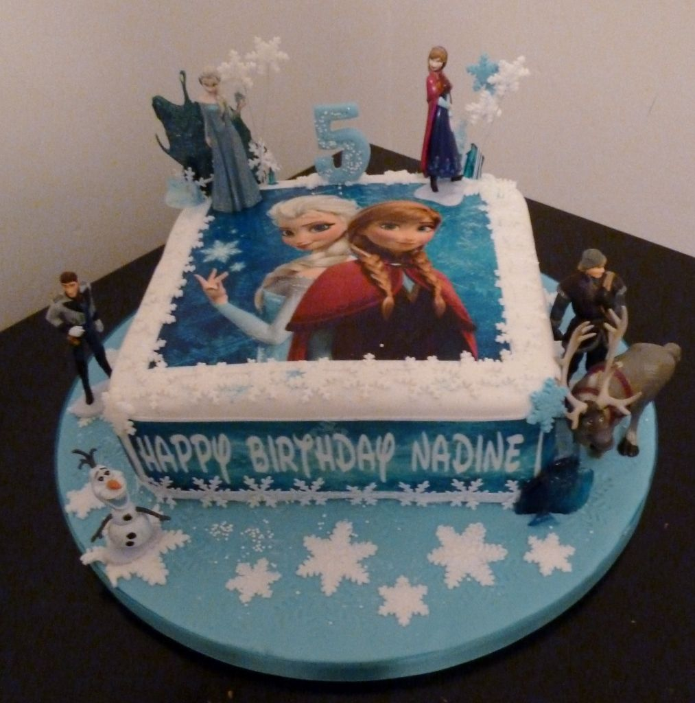 Cool Frozen Cake Topper Figures With Images Frozen Birthday Cake Birthday Cards Printable Trancafe Filternl