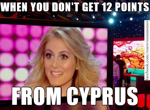 ce01f066bf5b594990f6233e76f683e7 maria elena points cyprus eurovision❤ pinterest memes