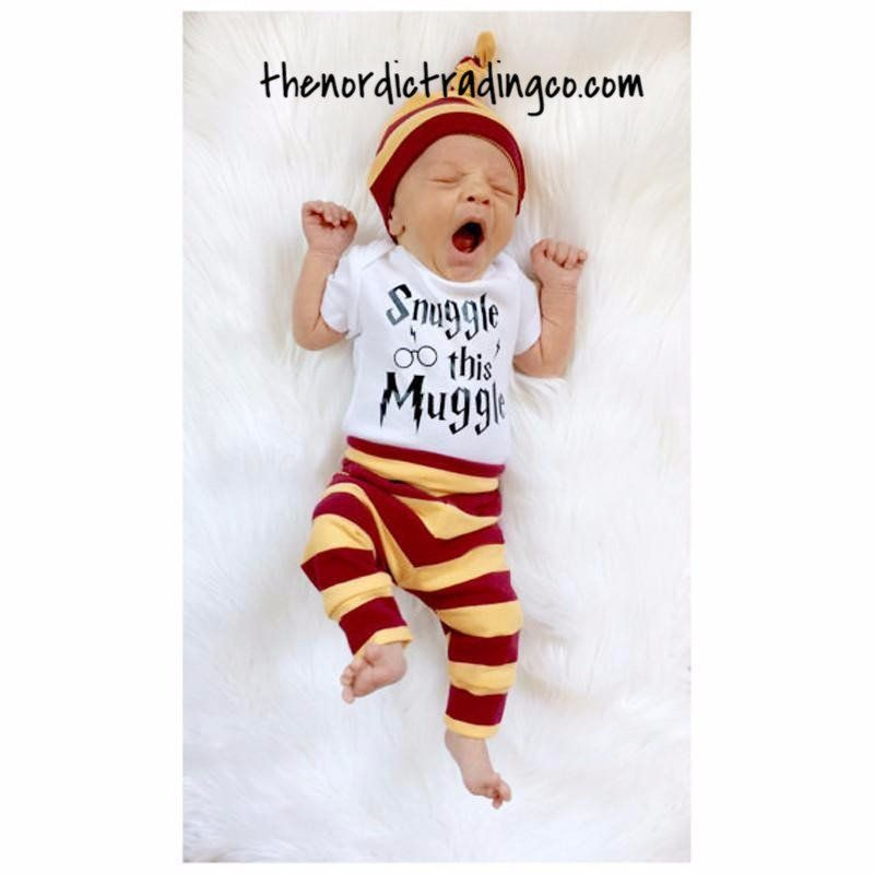 Snuggle this Muggle Harry Potter Inspired Baby Vest Babygrow Baby Shower