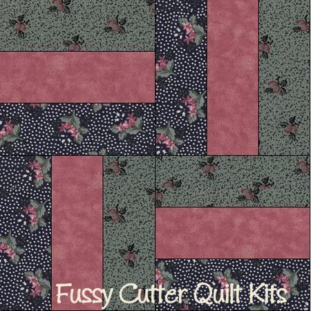 Primitive Country Sage Navy Blue Burgundy Floral Fabric Easy Pre ... : pre cut quilt kits for beginners - Adamdwight.com