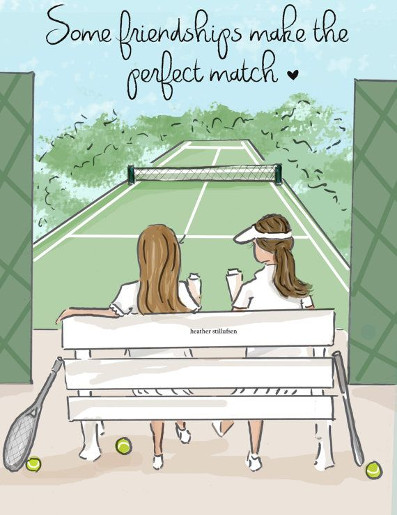 Cards For Friends Some Friendships Make The Perfect Match Etsy Heather Stillufsen Cards For Friends Tennis