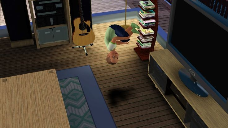Just hanging out, upside down.. in mid-air!   Lol.  sims gone wrong | Sims Gone Wrong